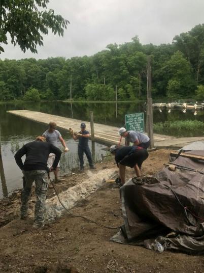 Woodbridge Crew dock assist #3